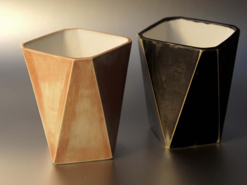 ceramic facetted objekts